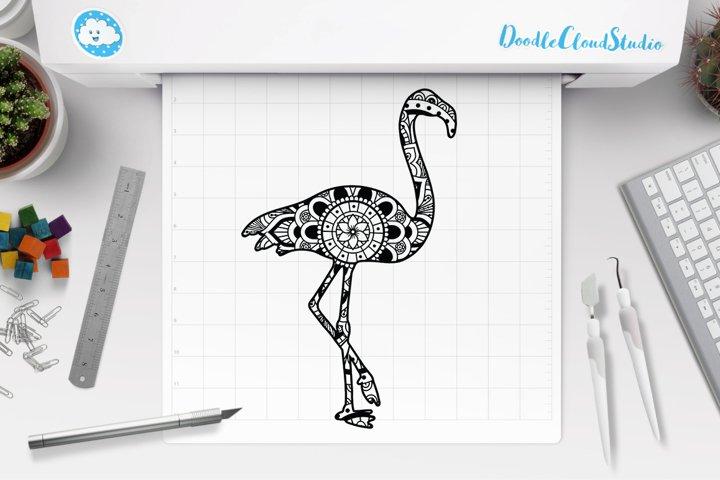 Flamingo Mandala SVG Cut Files, Flamingo Mandala Clipart