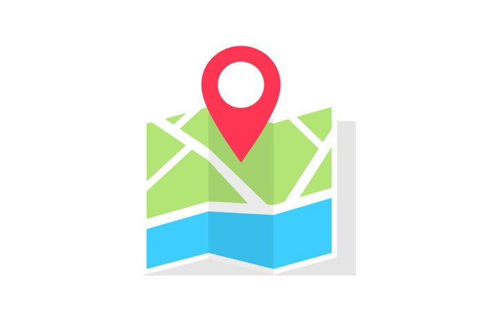 The direction of travel on the map icon