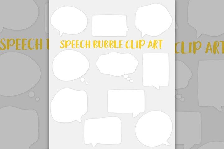Speech bubble clipart set