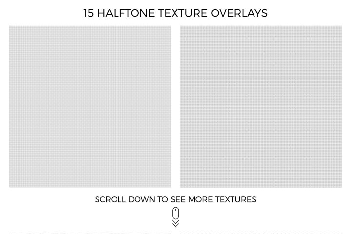 Halftone and Grunge Overlays example 6