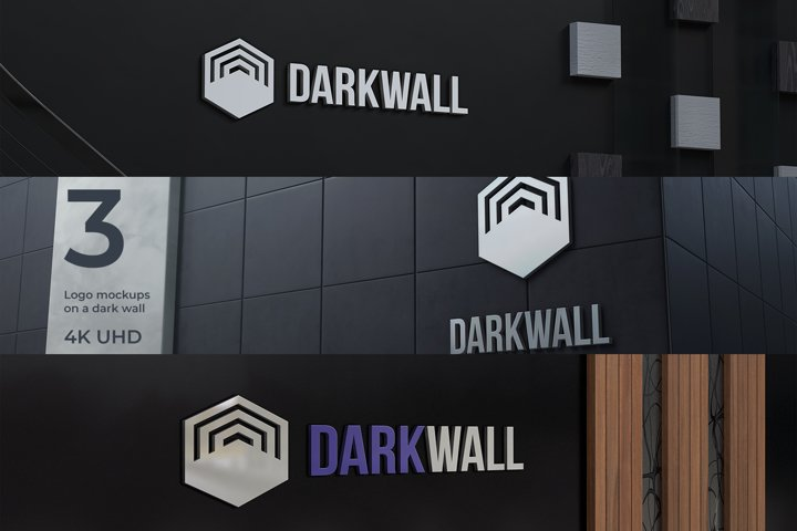 Dark Wall Logo Mockups