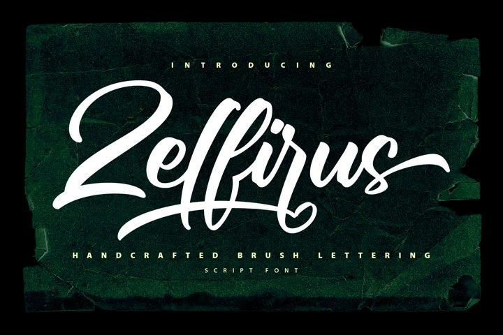 Zelfirus - Handcrafted Brush Lettering Script Font