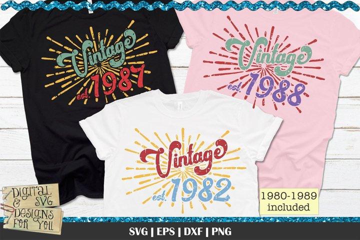 1980s Vintage Birthday | Vintage Birthday | Retro Birthday