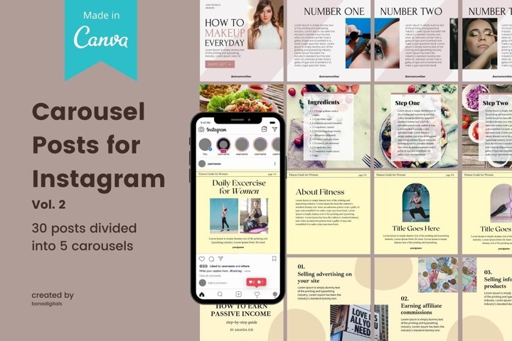 Instagram Carousel Template Vol. 2 Canva