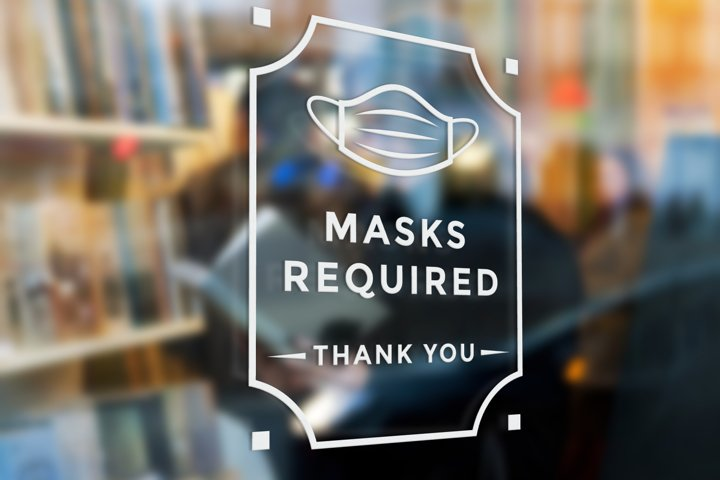 Masks Required Sign SVG Design