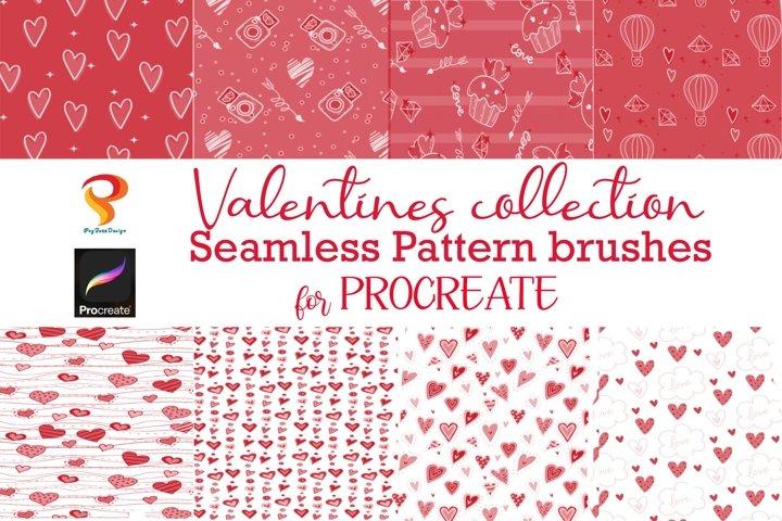 Valentine procreate brushes textures