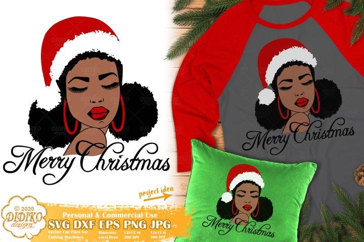 Black Woman SVG | Christmas SVG | Afro Woman SVG
