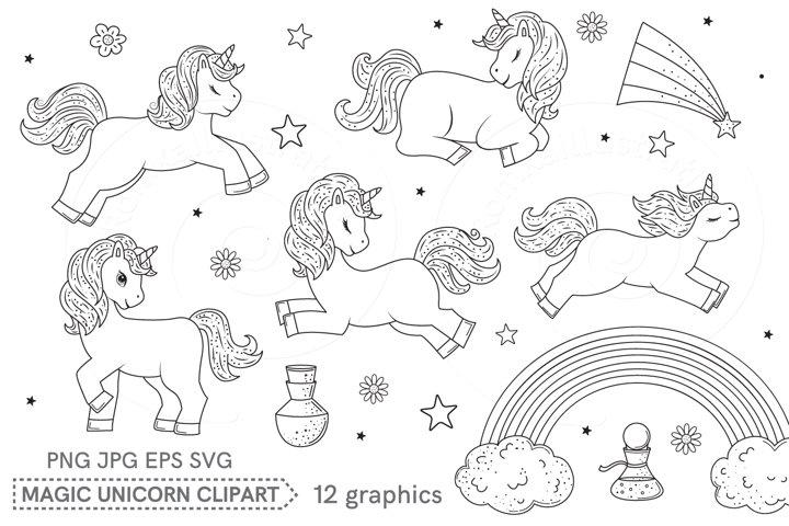 Clip art Magic Unicorns