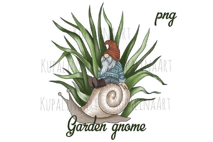 Garden gnome sublimation png