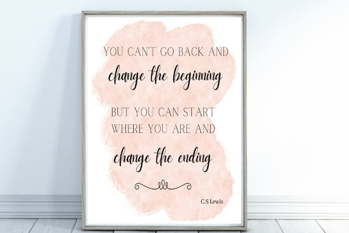 C.S Lewis Quote, Watercolor Quote Wall Art, Positive Quotes