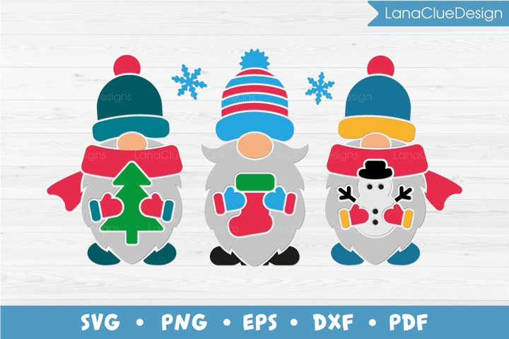 Winter Gnomes SVG PNG DXF EPS PDF