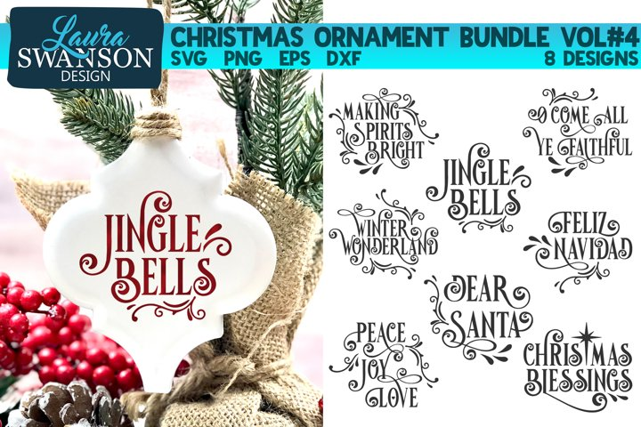 Christmas Ornament Bundle Vol#4 | Christmas SVG Bundle