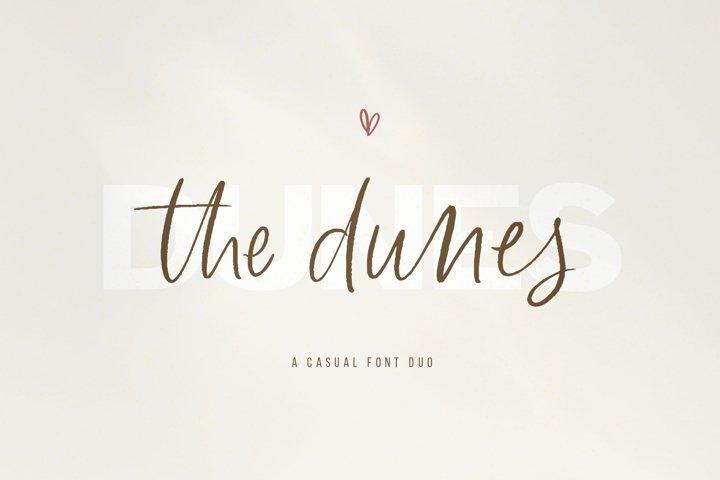 The Dunes - A Sans/Script Font Duo