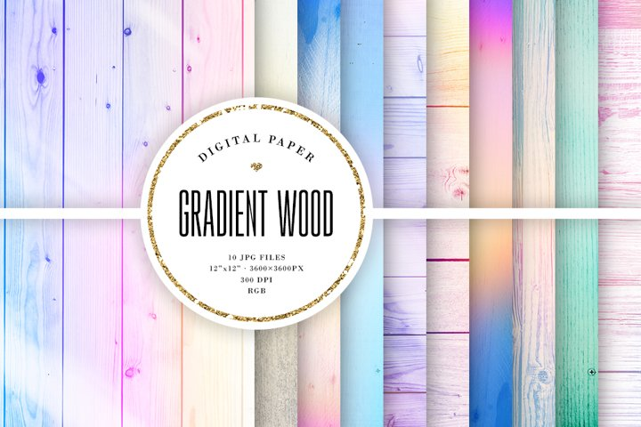 Gradient Wood Textures - Pastel Ombre Wood Backgrounds