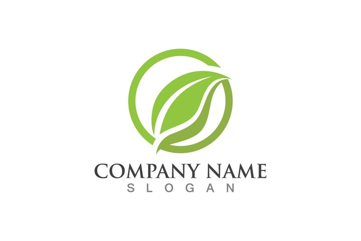 leaf green nature logo and symbol template Vector