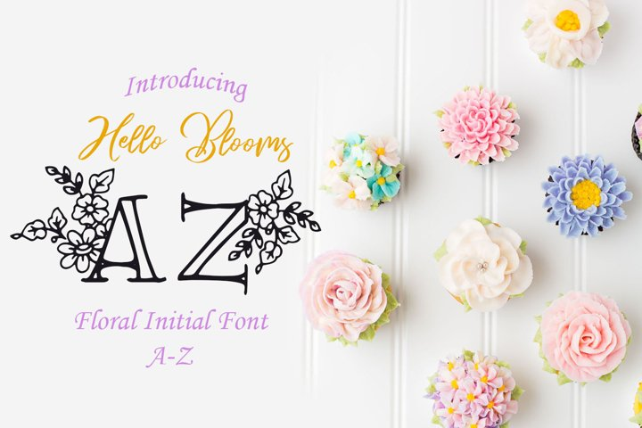 Hello Blooms Floral Initial Font