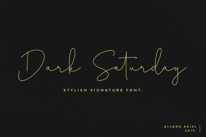 Dark Saturday | Stylish Signature Font