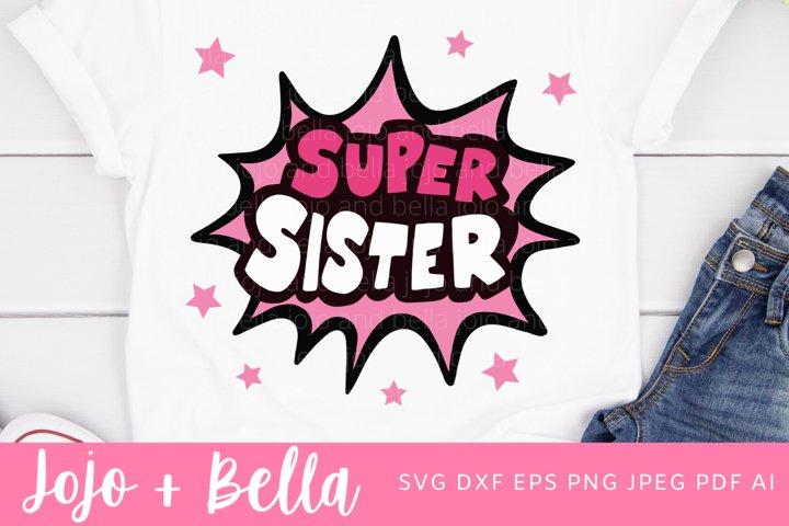 Sister Svg | Super Sister Svg