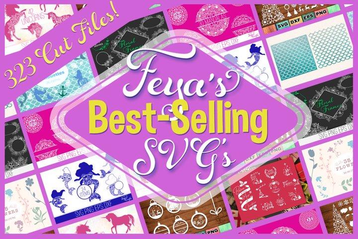 Best-Selling SVGs Bundle - 323 SVG Cut Files