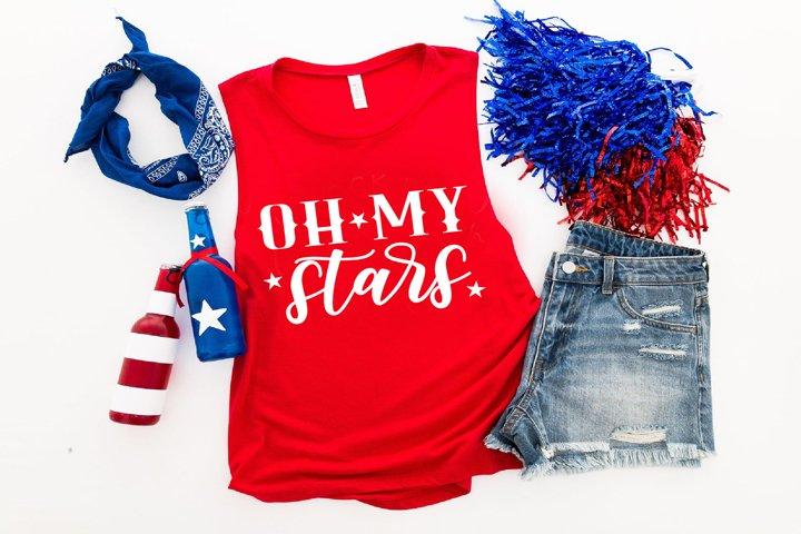 Oh my stars, 4th of July, Patriotic SVG