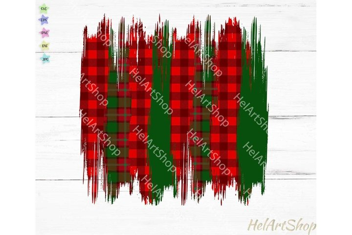 Christmas Brush strokes png, Sublimation png, Buffalo plaid