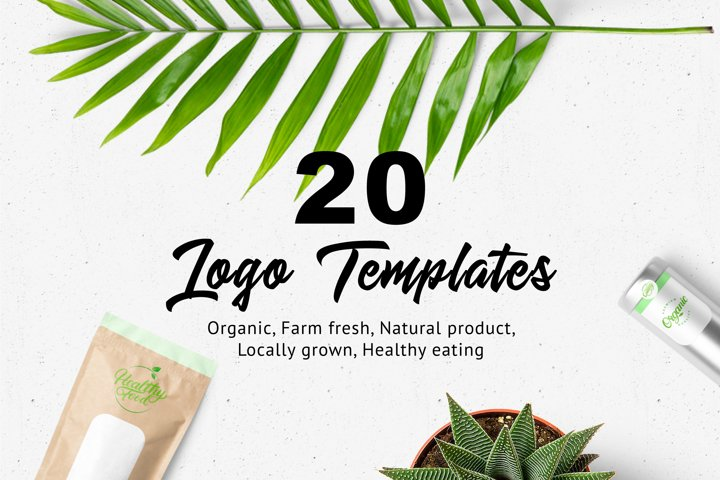 20 Organic & Natural Lettering Logos