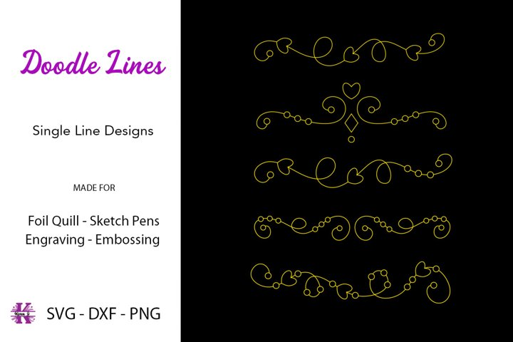 Doodle Lines Dividers/Borders for Foil Quill