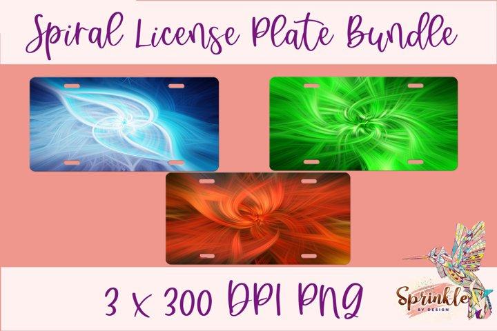 Spiral License Plate Sublimation Bundle