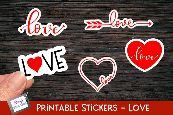 Valentines Day Stickers - 5 Love Stickers