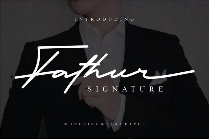 Fathur - Luxury Signature Font