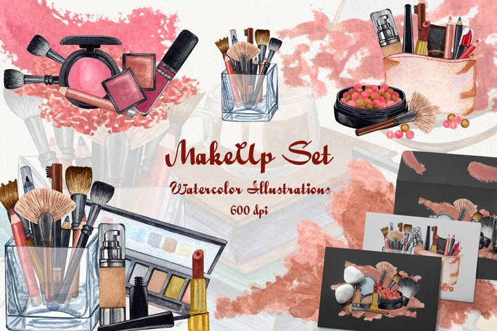 Watercolor Make Up Set 600 dpi