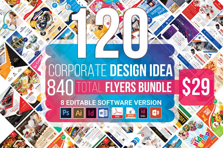 120 Corporate Flyer & Poster Bundle