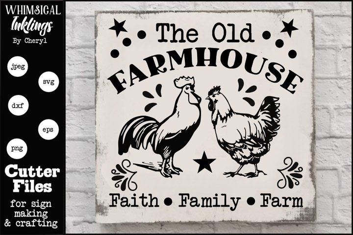 The Old Farmhouse SVG example