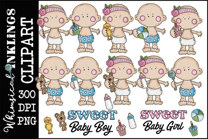 Cutie Pie Babies Clipart-Sublimation Bundle