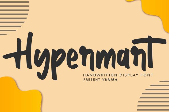 Hypermart | Handwritten Display Font