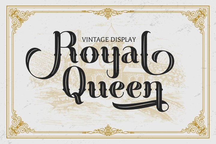 Royal Queen - Vintage Display Font