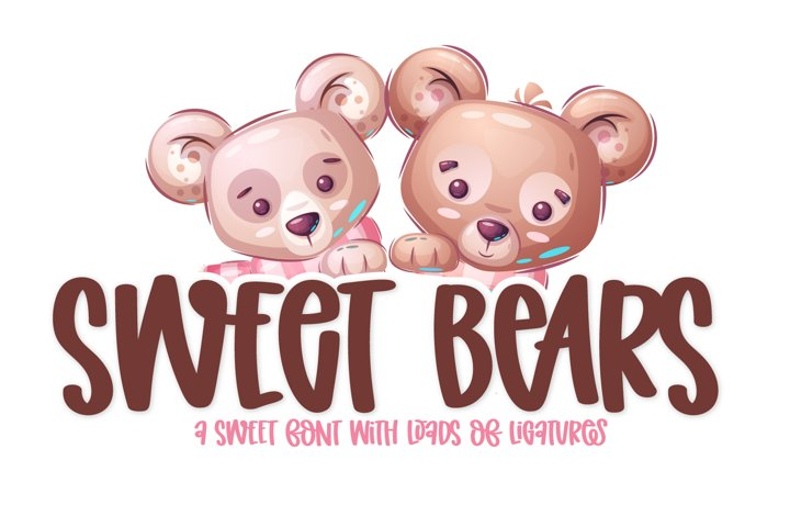 Sweet Bears - A Fun Clean Marker Font with ligatures