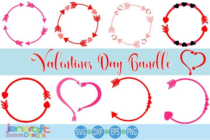 Valentine SVG - Arrow Valentine monogram SVG Frames
