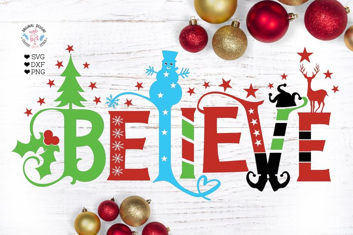 Believe - Funny Christmas Cut File