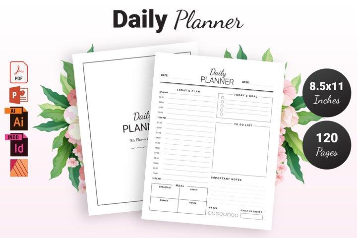 Daily Planner - KDP Interior