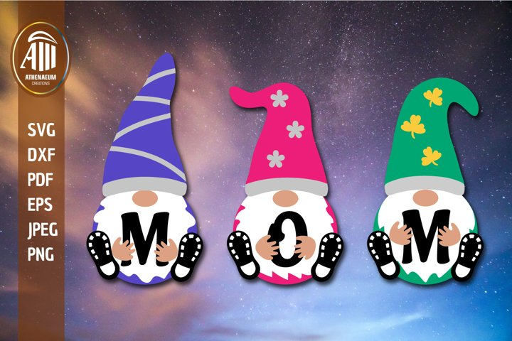 Mom SVG| Gnome Mom SVG| Mothers Day Gnome Cut files