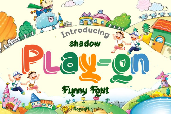 Play-on shadow font