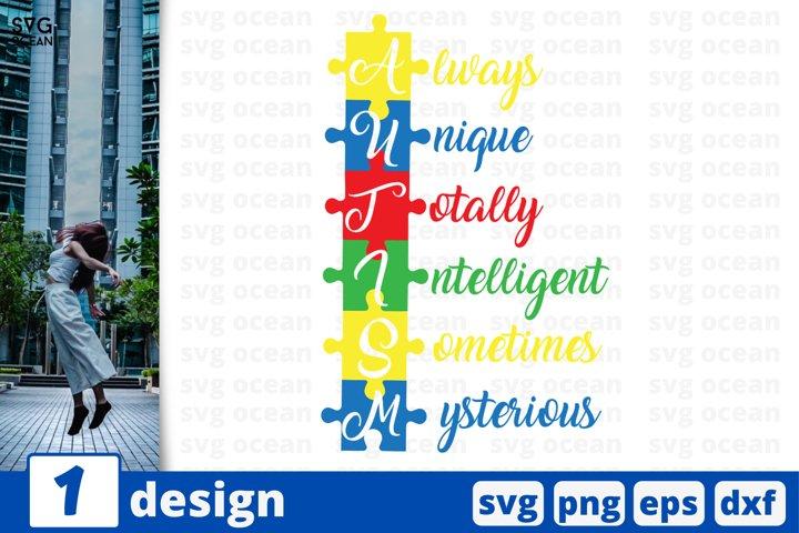 Inspirational Autism SVG cut files| Autism awareness vector
