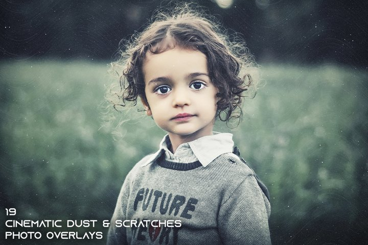 19 Cinematic Dust & Scratch Photo Overlays example
