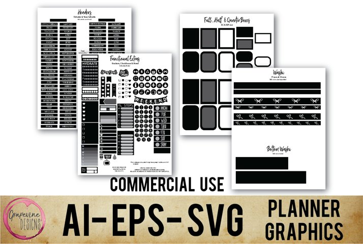 Planner Sticker Template Commercial