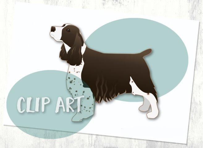 Liver Springer Spaniel Dog Breed Clip Art