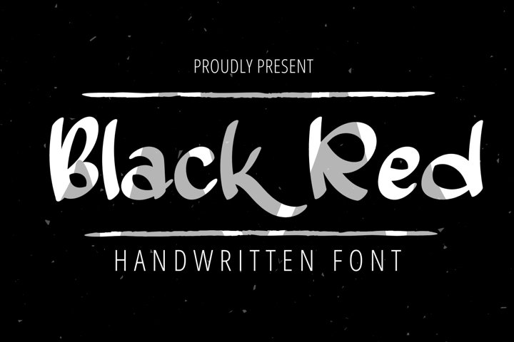 Black Red-Elegant Handwritten Font