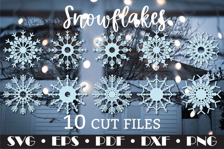 Christmas Snowflake 10 designs