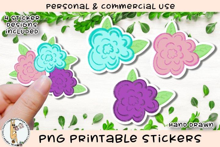 Cottage Rose Spring Flower Printable Stickers