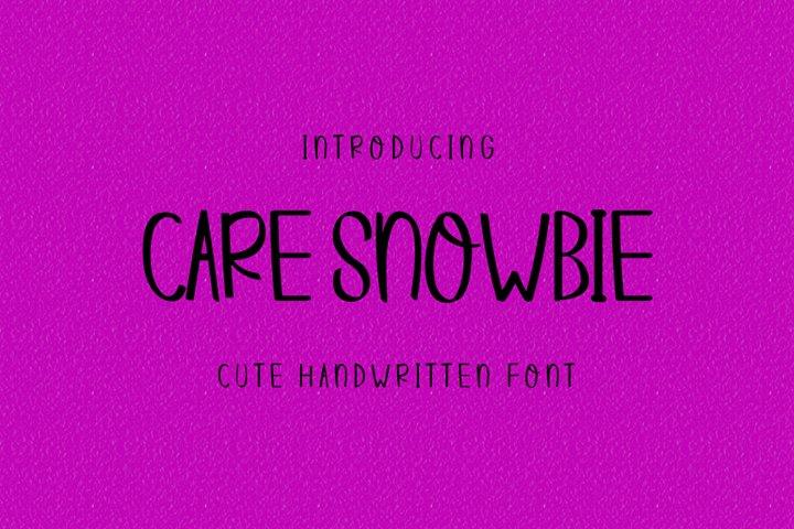 Care Snowbie | Modern Handwritten